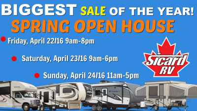 Post thumbnail for Don't Forget The Date! Sicard RV's Spring Open House: April 22-24 2016