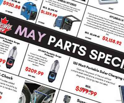 Post thumbnail for Parts Specials for May 2019