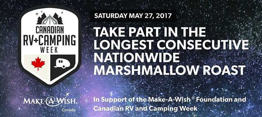 Take part in the longest consecutive nationwide marshmallow roast may 27