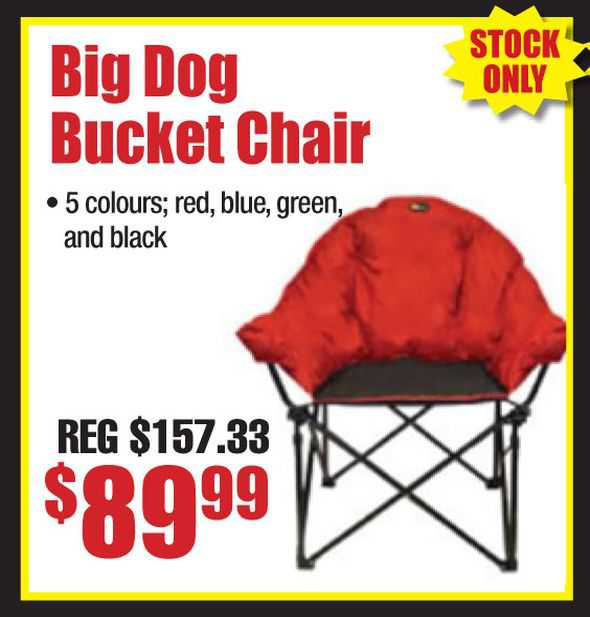 Big Dog Chairs in Red, Blue, Green and Black