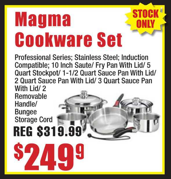 Magma 10-Piece Nested Cookware Set