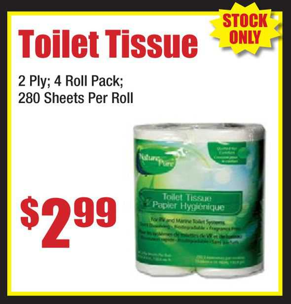 Toilet Tissue 2 Ply 4 Roll Pack
