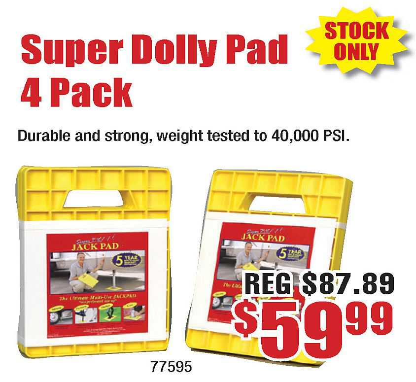 Super Dolly Pad 4-Pack