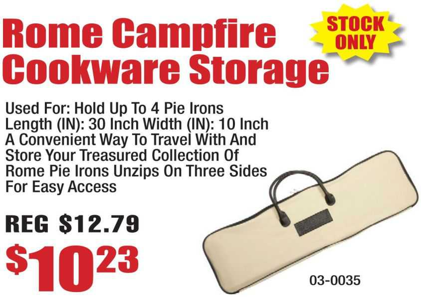 Rome Campfire Cookware Storage Bag