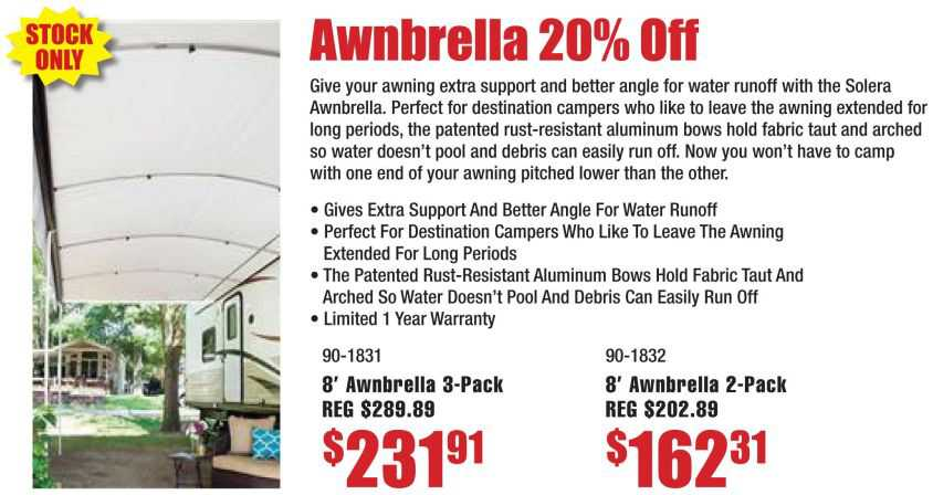 Awnbrella Awning Supports 20% Off