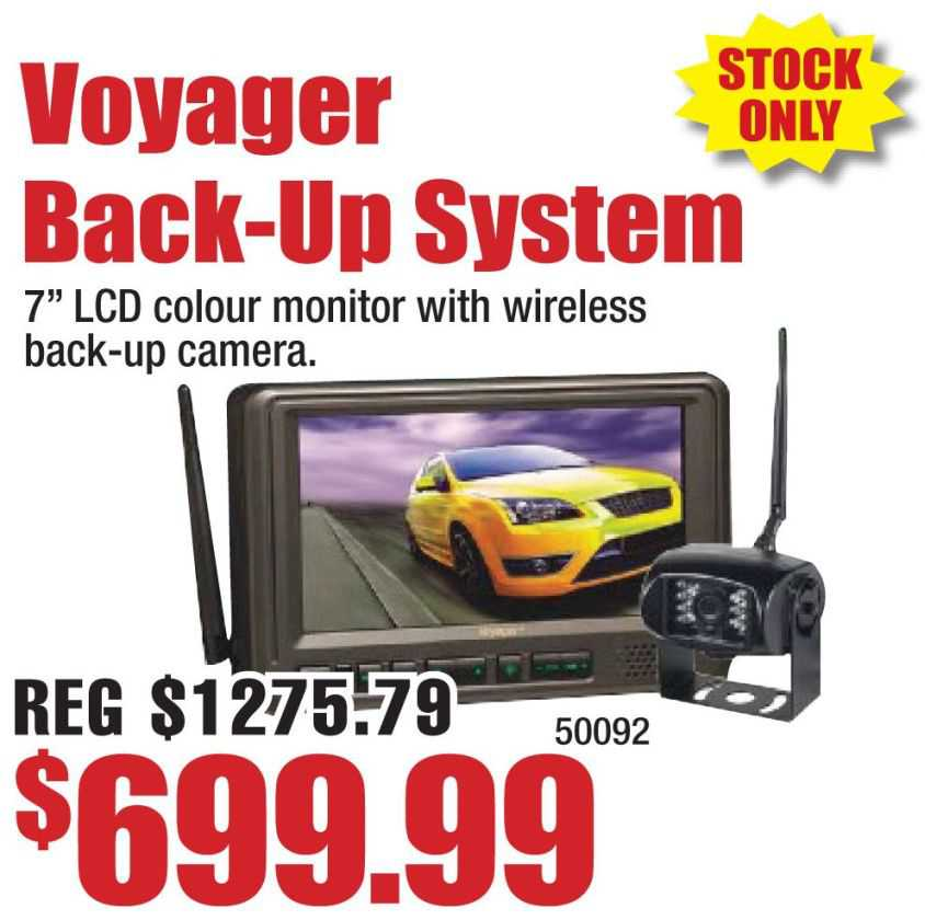 Voyager Back Up Camera System