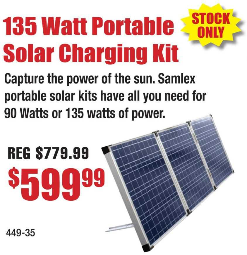 135 Watt Portable Solar Charging Kit