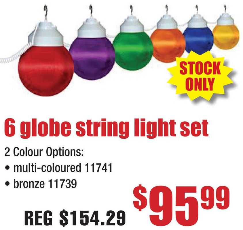 6 Globe String Light Set