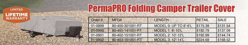 PermaPRO Folding Camping Trailer Covers