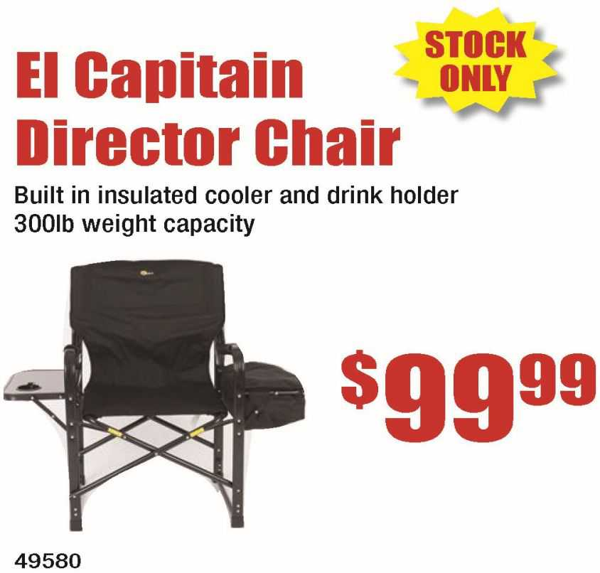 El Capitain Director Chair