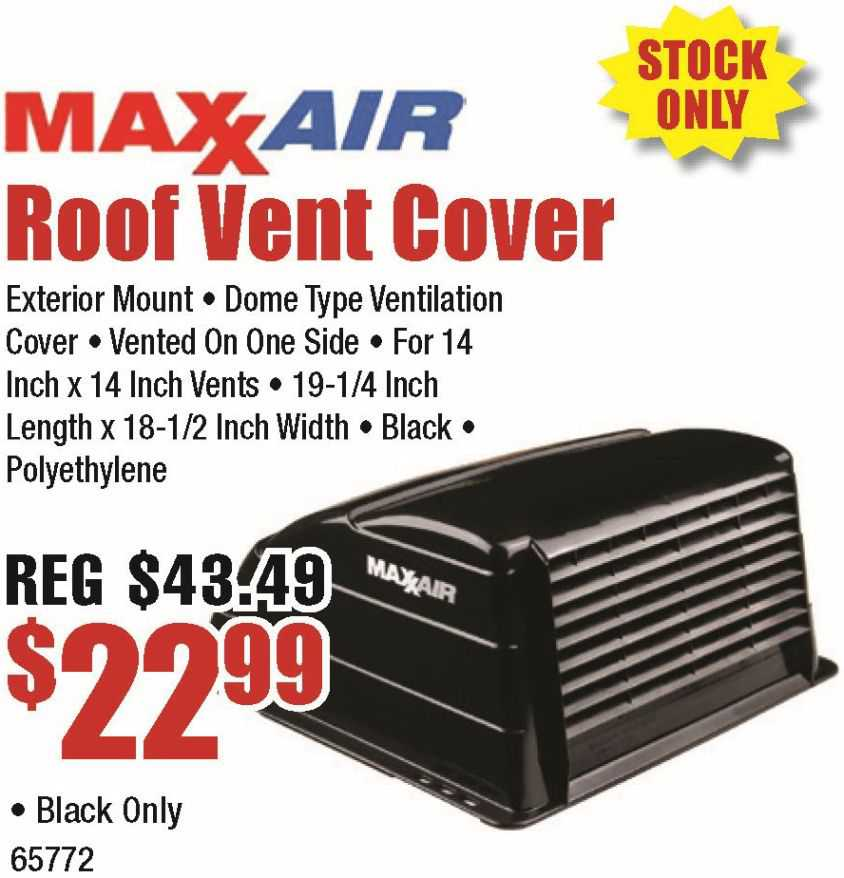 MaxxAir Vent Cover in Black