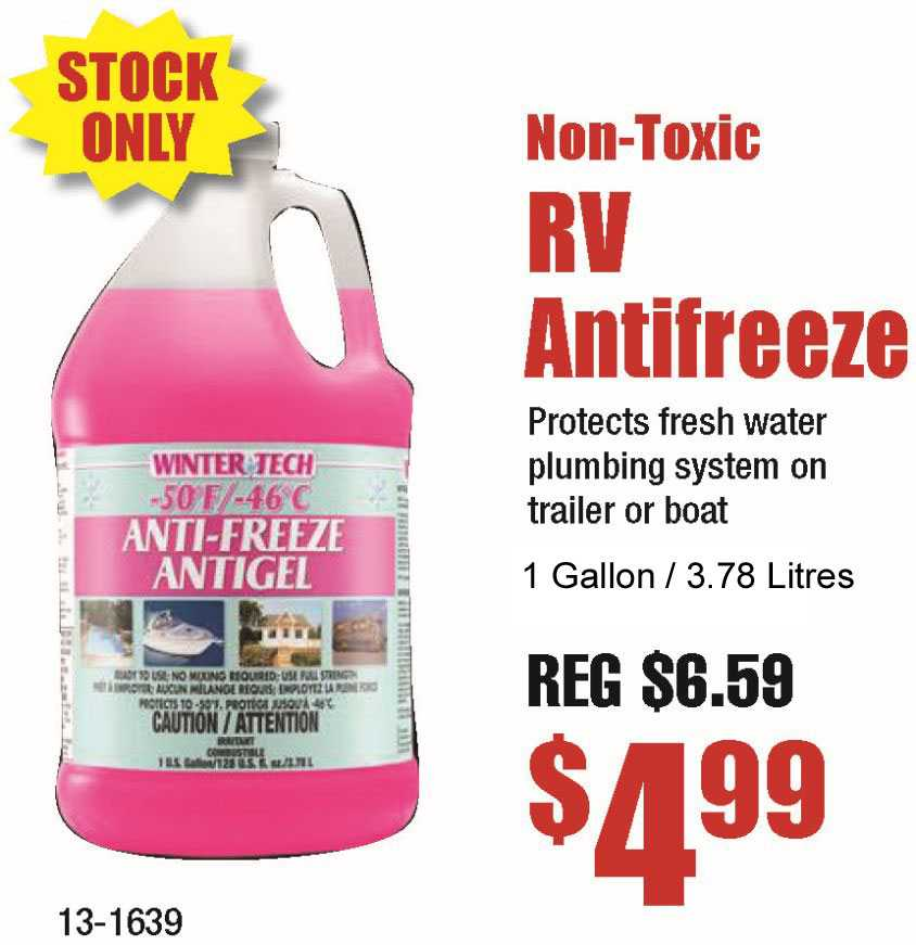 Non-Toxic RV Antifreeze 1 Gallon 3.78 Litres