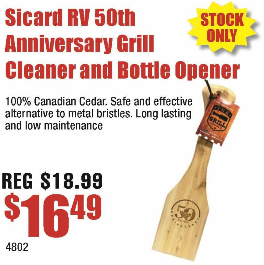 Sicard RV 50th Anniversary Grill Cleaner And Bottle Opener