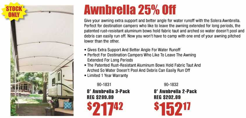 Awnbrella Awning Supports 25% Off