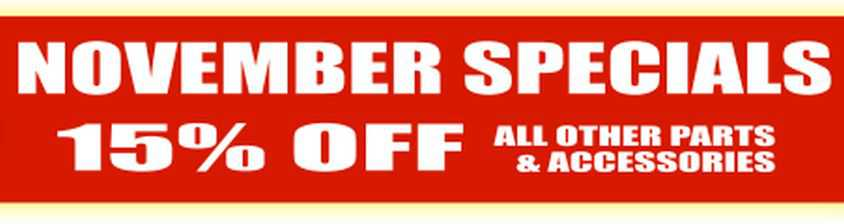 15% Off All Other Non-Sale Parts And Accessories