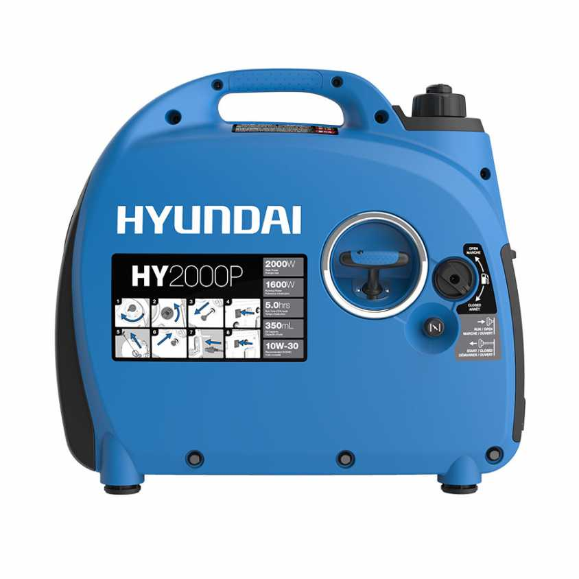 Hyundai HY2000P Inverter Generator Side Start
