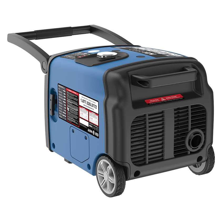 Hyundai HY3200 Inverter Generator Front Handle Up