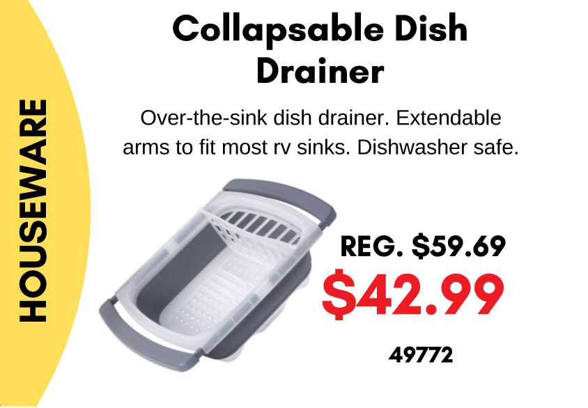 Collapsible Dish Draner
