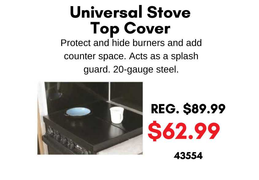 Universal Stove Top Cover