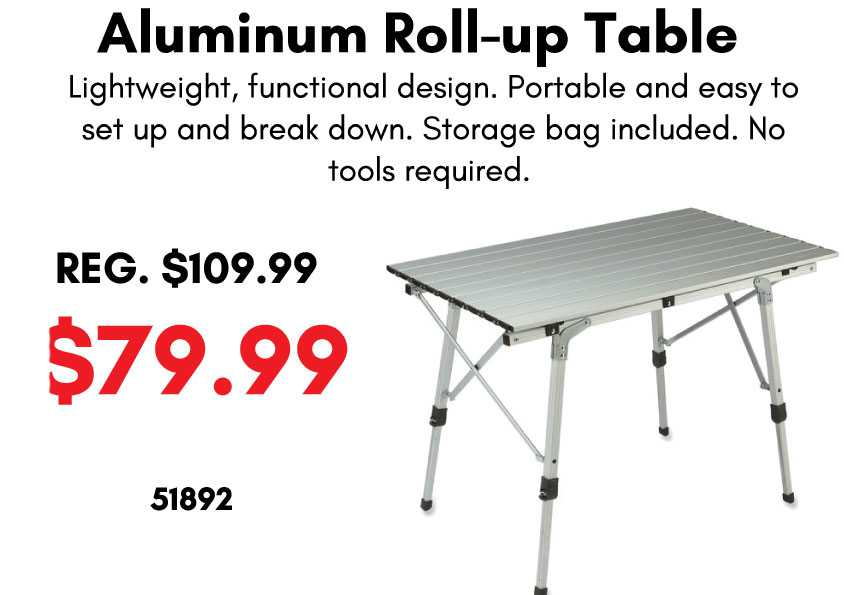 Aluminum Roll-Up Table