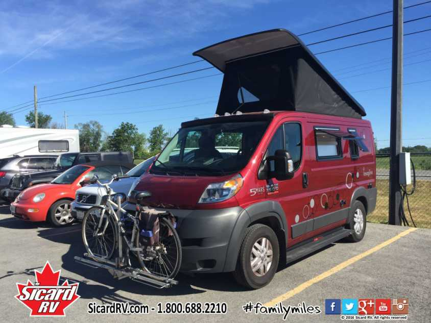 Camper Van Style With Its Fabric Pop Up Roof Construction Multipurpose Interior And Small Overall Length Of 16 3 This Canadian Made Motorhome Is
