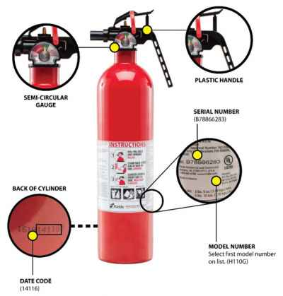 Post thumbnail for Kidde Recall of Plastic Handle & Push Button Pindicator Fire Extinguishers