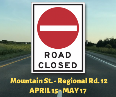 Post thumbnail for Road Closure - Mountain Street - Regional Rd 12