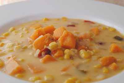 Post thumbnail for Corn and Sweet Potato Chowder