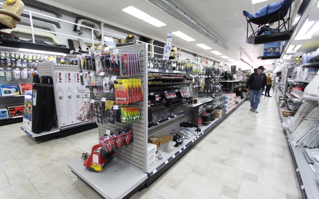 RV Parts Department Aisles