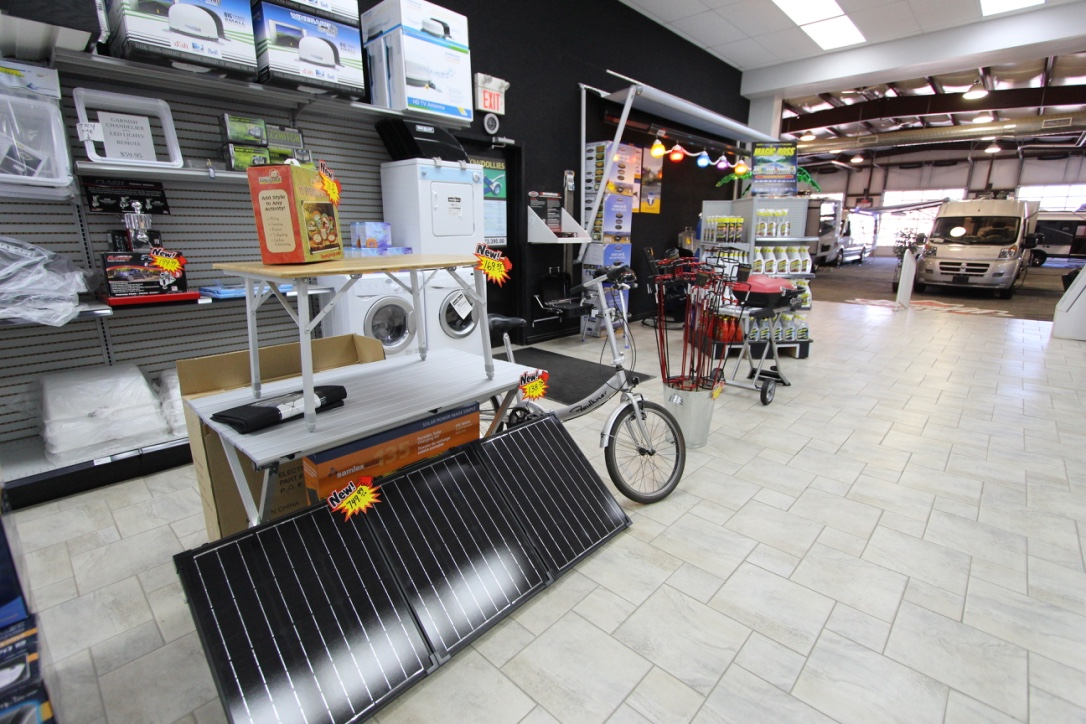 RV Parts Department Displays