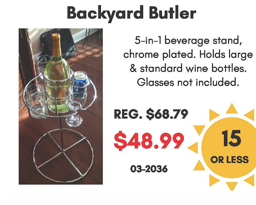 Backyard Butler 5-in-1 Beverage Stand