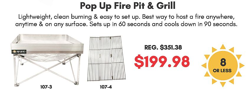 Pop Up Fire Pit And Grill